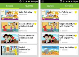 phần mềm học tiếng anh cho trẻ 3, 4 tuổi