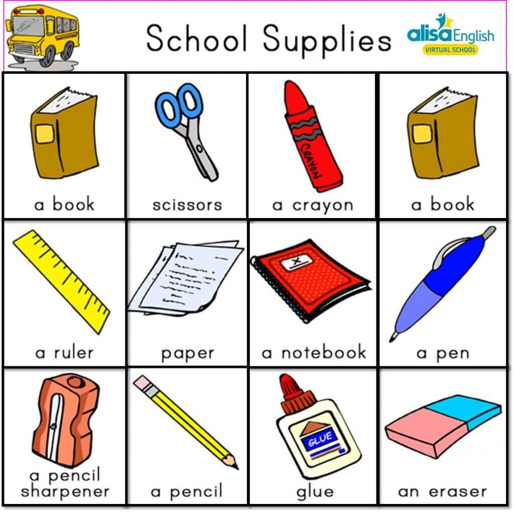 Danh sách những từ vựng tiếng Anh cho bé theo chủ đề trường học thường được sử dụng nhất