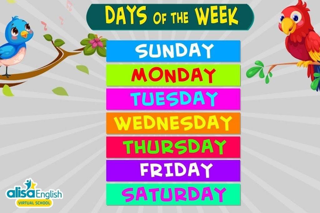 Bài hát tiếng Anh trẻ em về chủ đề các ngày trong tuần - 7 Days of the Week