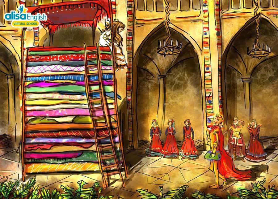 Truyện cổ tích song ngữ nàng công chúa và hạt đậu